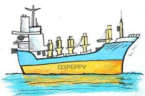 нарисовать пошагово большой корабль карандашом, рисунок  боьшого корабля, контурный рисунок,  цветной