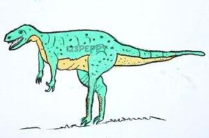 нарисовать пошагово динозавра карандашом, рисунок  динозавра, контурный рисунок,  цветной