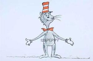 нарисовать пошагово кота в цилиндре карандашом, рисунок  кота в цилиндре, контурный рисунок,