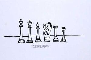 нарисовать пошагово шахматные фигуры карандашом, рисунок  шахматных фигур, контурный рисунок,  черно-белый