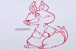 нарисовать пошагово милого зайку карандашом, рисунок  милого зайки, контурный рисунок,  черно-белый