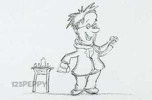 нарисовать пошагово доктора карандашом, рисунок  доктора, контурный рисунок,  черно-белый