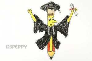 нарисовать пошагово умный карандаш карандашом, рисунок  умного карандаша, контурный рисунок,  цветной