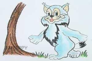 нарисовать пошагово кота Леопольда карандашом, рисунок  кота Леопольда, контурный рисунок,  цветной