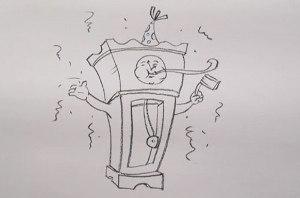 нарисовать пошагово бьющие часы карандашом, рисунок  бьющих часов, контурный рисунок,  черно- белый