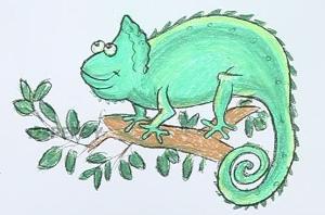 нарисовать пошагово хамелеона карандашом, рисунок  хамелиона, контурный рисунок,  цветной