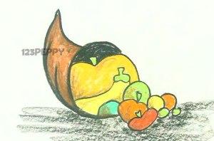 нарисовать пошагово фрукты карандашом, рисунок  фруктов, контурный рисунок,  цветной