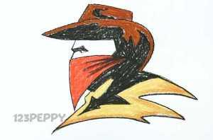 нарисовать пошагово ковбоя карандашом, рисунок  ковбоя, контурный рисунок,  цветной
