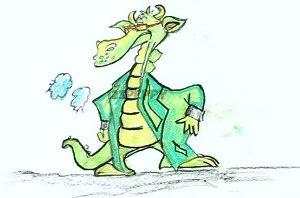 нарисовать пошагово зеленого дракона карандашом, рисунок  зеленого дракона, контурный рисунок,  цветной