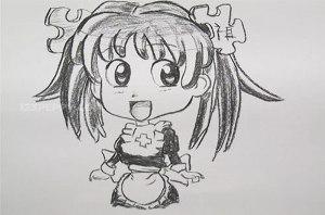 нарисовать пошагово красивую девочку карандашом, рисунок  красивой девочки, контурный рисунок,  черно - белый