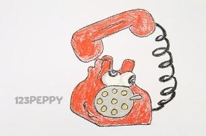 нарисовать пошагово телефон карандашом, рисунок  телефона, контурный рисунок,  цветной