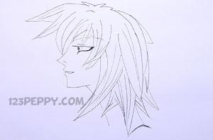 нарисовать пошагово девочку из Анимэ карандашом, рисунок  девочки из Анимэ, контурный рисунок,  черно-белый