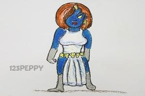 нарисовать пошагово женщину фэнтази карандашом, рисунок  женщины фэнтази, контурный рисунок,  цветной