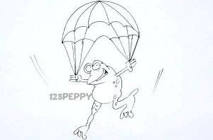 нарисовать пошагово лягушку путешественницу карандашом, рисунок  лягушки путешественницы, контурный рисунок,  черно - белый