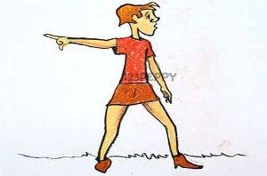 нарисовать пошагово женщину в короткой юбке карандашом, рисунок  женщины в юбке, контурный рисунок,  цветной