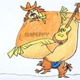 ковбоя с гитарой