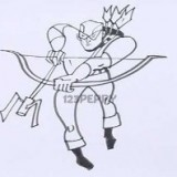 бэтмена с луком и стрелами
