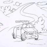 Как нарисовать машину на дороге