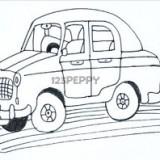 мультяшную машину