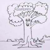 Как нарисовать живое дерево