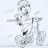 мужчину на велосипеде