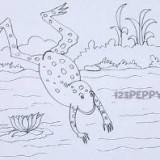 прыгающую лягушку