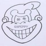 морду обезьяны