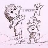 девочку и обезьянку