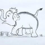 идущего слоненка