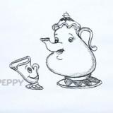 """чайник из мультфильма """"Красавица и чудовище"""""""