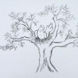 птицу на дереве