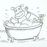 бегемота в ванне
