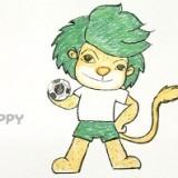 львенка с мячом