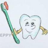 зуб со щеткой
