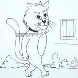 идущего мультяшного кота