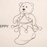 рождественский носок с медвежонком