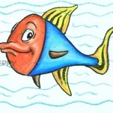 красочную рыбку