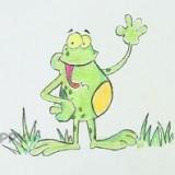 веселую лягушку