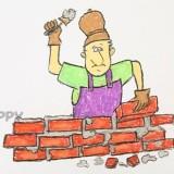 строителя с мастерком