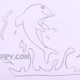 прыгающего дельфина