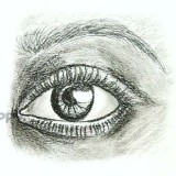 глаз с бровью