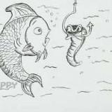 удивлённую рыбку