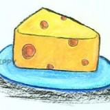 сыр на тарелке