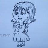 девочку с цветком