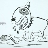 голодную собаку