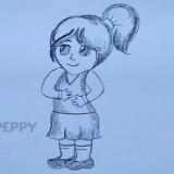 маленькую девочку