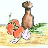 чеснок с помидорами