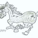 скачущего коня