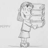 школьницу с книгами