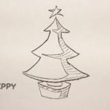 новогоднюю елку со звездой